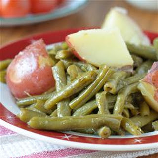Country Style Green Beans with Red Potatoes