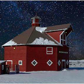 Moonlit Barn by George Herbert - Buildings & Architecture Other Exteriors