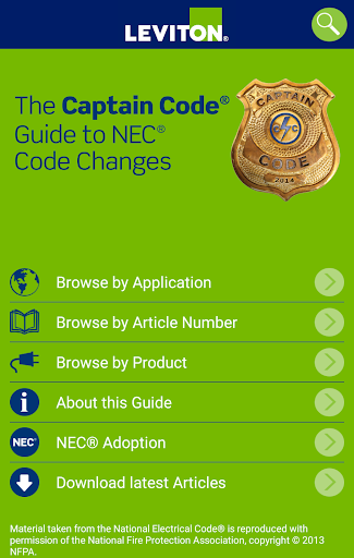 Leviton Captain Code NEC Guide