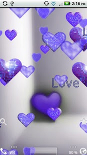 Purple Sparkle Hearts Live