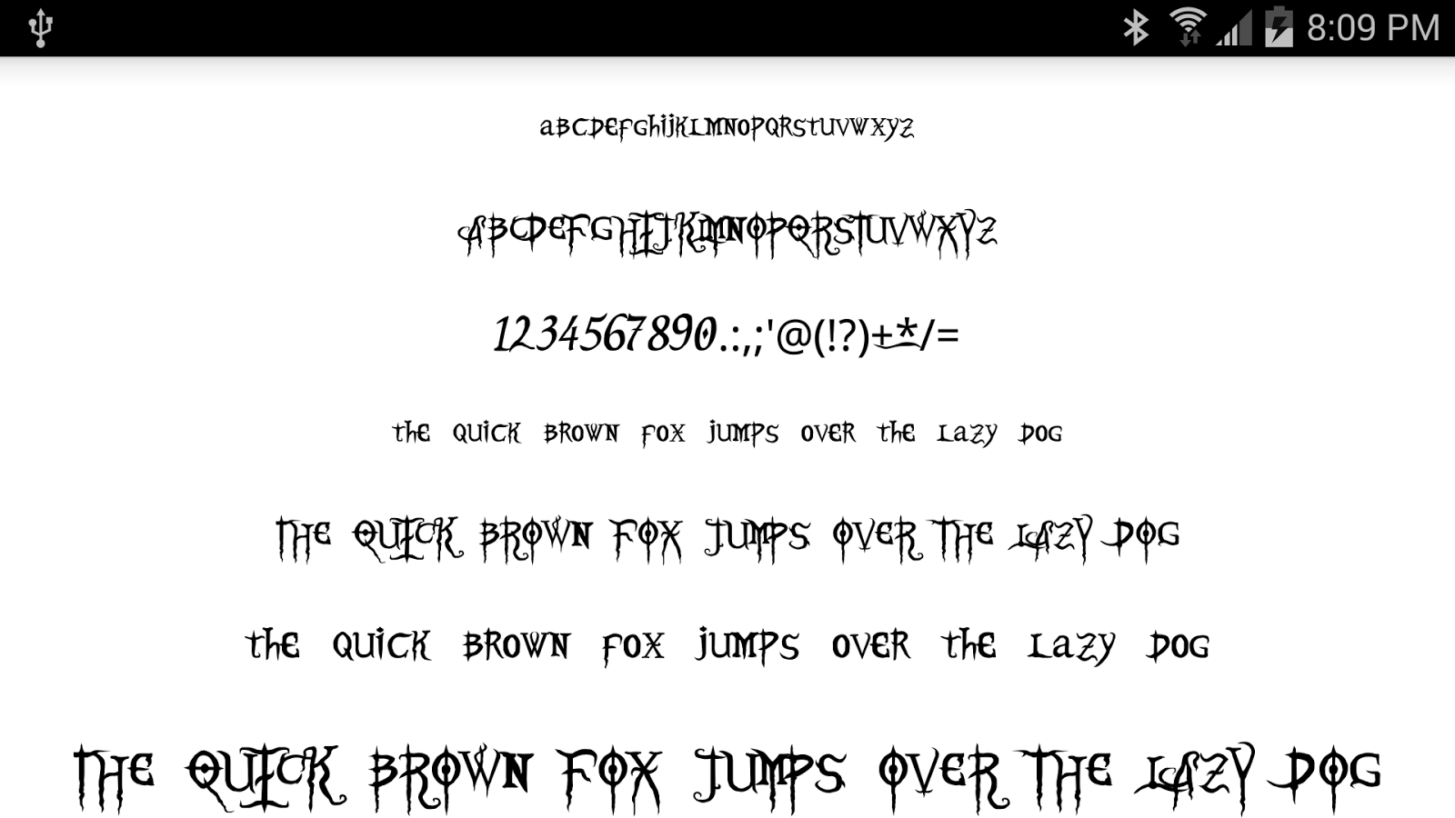 Halloween fonts for flipfont android apps on google play for Fonts for google docs android