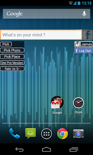 Facebook Status Update Widget - screenshot thumbnail