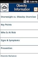 Screenshot of NIH: Obesity Information