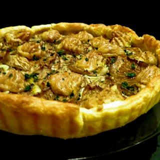 Mushroom and Garlic Aioli Tart