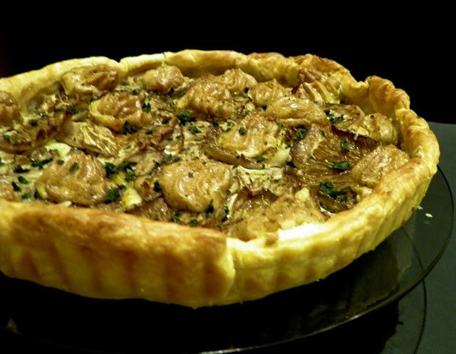 Mushroom and Garlic Aioli Tart Recipe