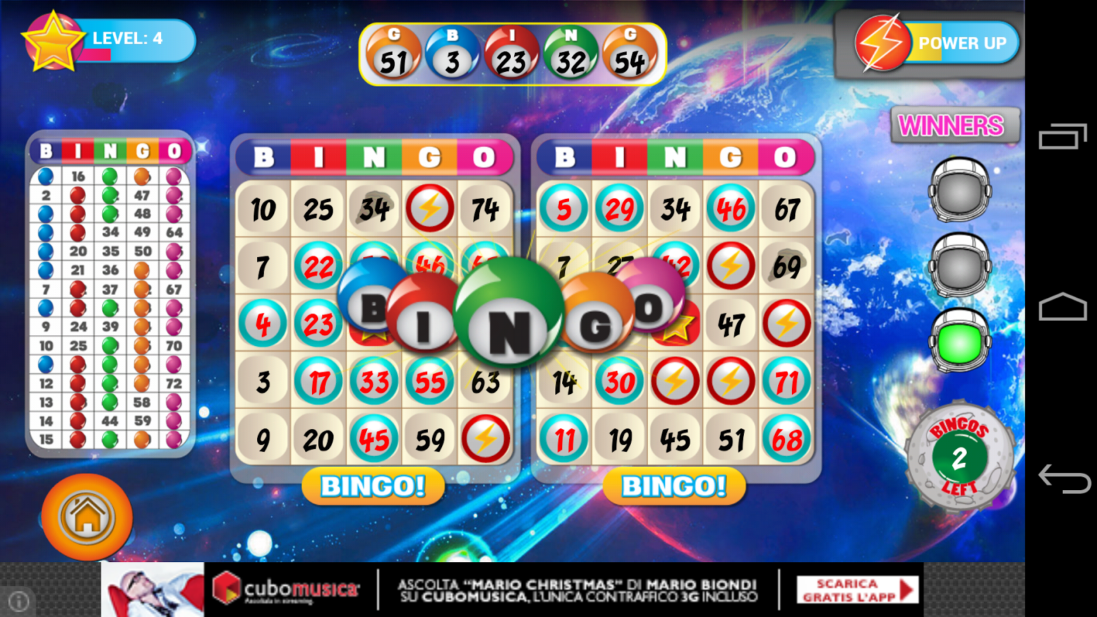 Bingo- screenshot
