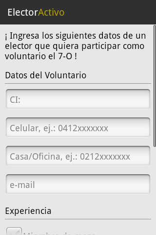 Elector Activo - screenshot