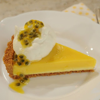 Passion Fruit Cheesecake Tart.