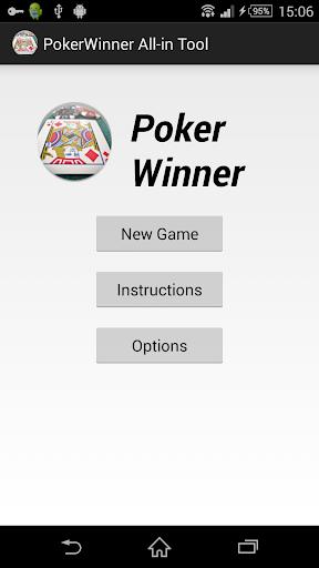 Poker Winner All-in Tool
