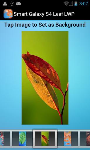 【免費程式庫與試用程式App】Smart Galaxy S4 Leaf LWP-APP點子