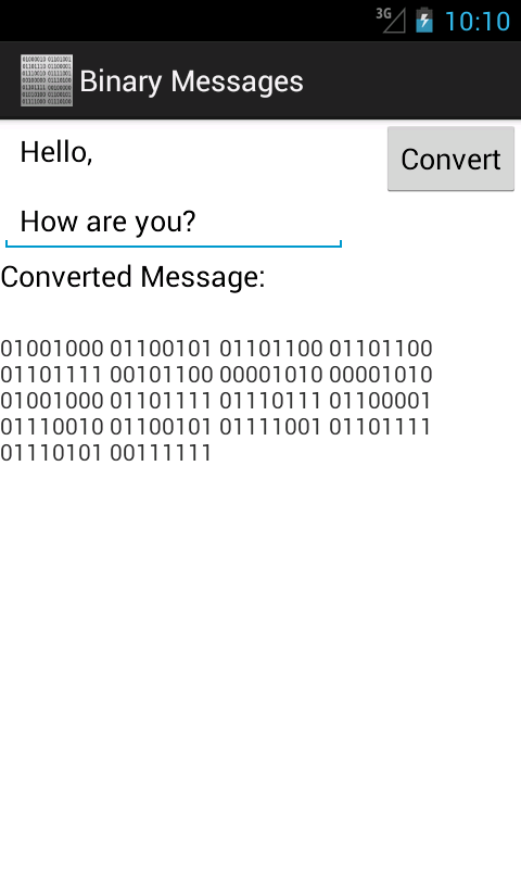 Binary Messages- screenshot