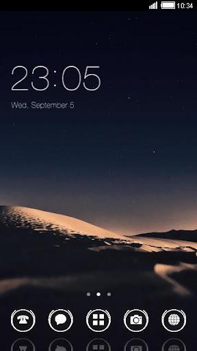 Desert Night C Launcher Theme