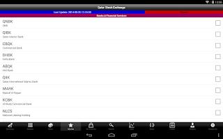 Screenshot of QSE Market Watch