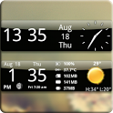 Smoked Glass Weather Clock icon