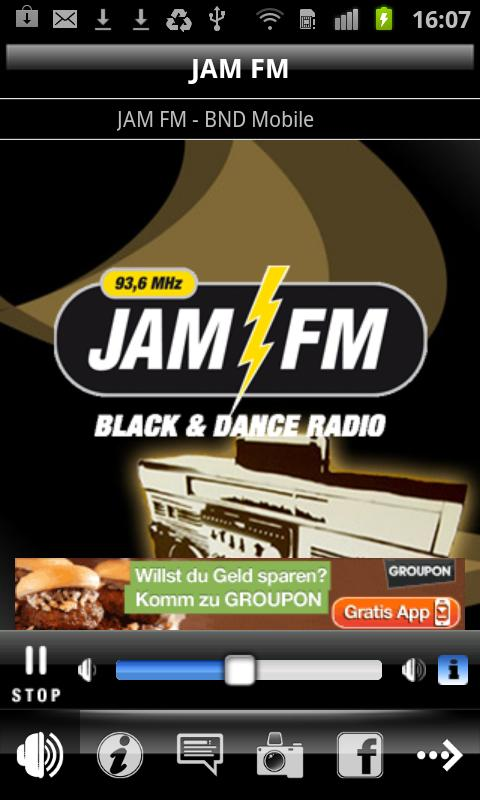JAM FM - screenshot