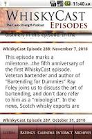 Screenshot of WhiskyCast