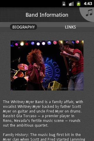 Whitney Myer Band - screenshot