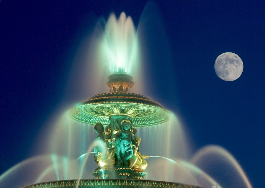 Place de la Concorde fountain by Gale Perry - Buildings & Architecture Statues & Monuments ( , #GARYFONGDRAMATICLIGHT, #WTFBOBDAVIS )