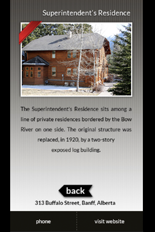 Banff Historical Walks - screenshot