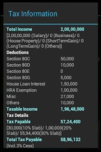 India Tax Calculator FY2015-16- screenshot thumbnail