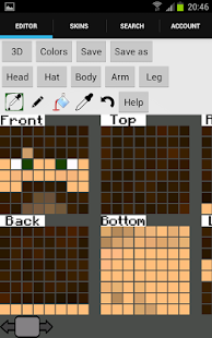 Skin editor 3D for Minecraft - screenshot thumbnail