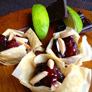 Cherry Lime Truffle Cups.