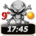 Skulls Clock Weather Widget icon