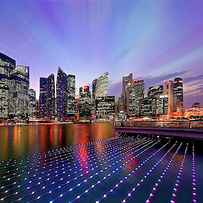 City of Lights by Sim Kim Seong - City,  Street & Park  Skylines