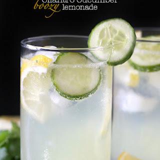 Cilantro Cucumber Boozy Lemonade.