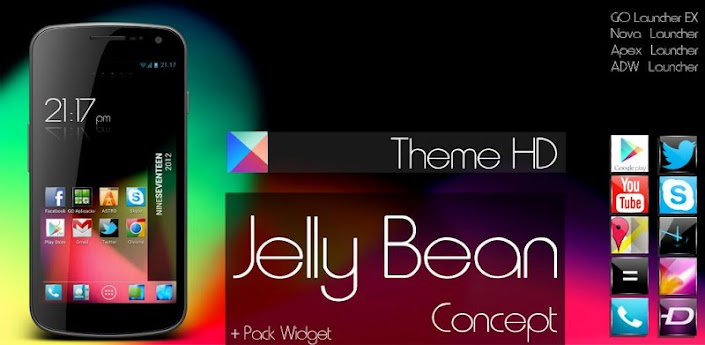 Jelly Bean HD Theme 5 in 1 apk