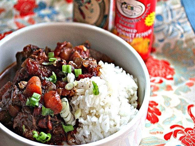 Jamaican Beef Stew with Rice Recipe