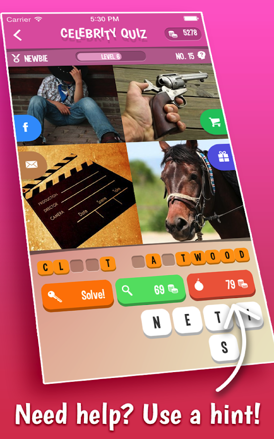 Celebrity Quiz- screenshot
