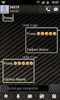 Screenshot of GO SMS Pro Carbon Fiber Theme