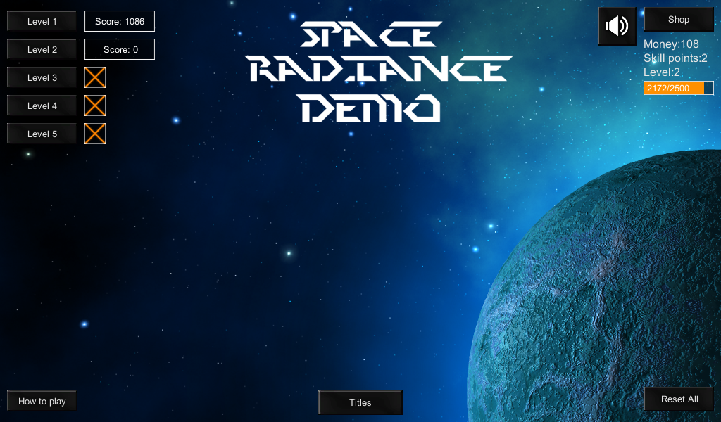 Space Radiance Demo- screenshot