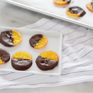 Chocolate Dipped Candied Tangerine Slices Recipe
