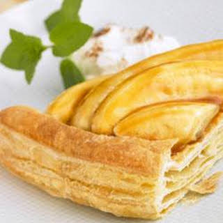 Bananas Foster over Puff Pastry.
