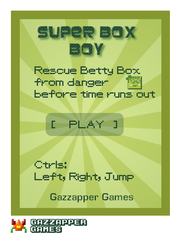 Super Box Boy (Platformer)- screenshot