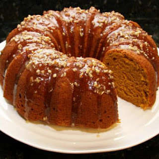 Pumpkin Pound Cake With Maple Pecan Glaze