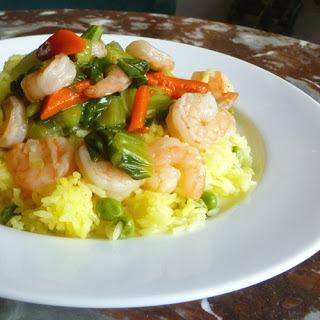 Shrimp with Baby Bok Choy.