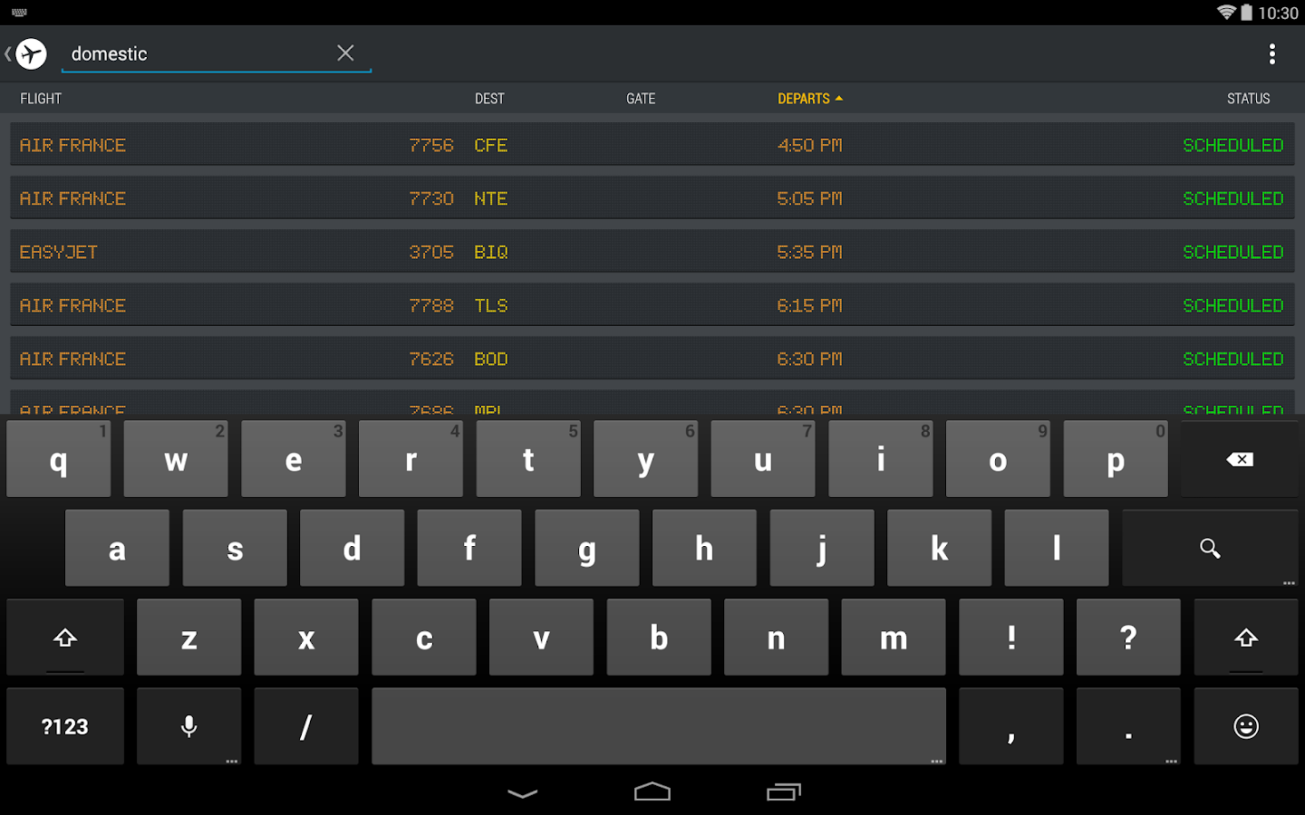 FlightBoard - screenshot