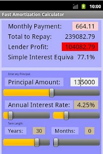 Fast Amortization Calculator - screenshot thumbnail