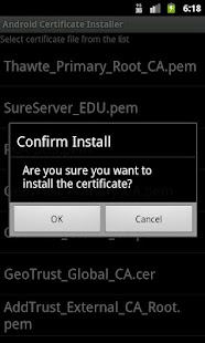 Certificate Installer- screenshot thumbnail