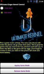 Ultimate Ginger Kernel Control - screenshot thumbnail
