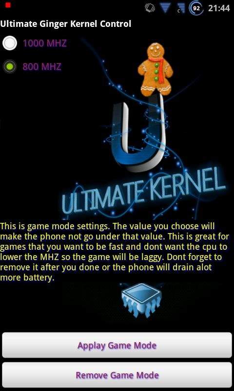 Ultimate Ginger Kernel Control - screenshot