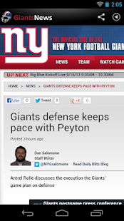 Giants News (NFL) - screenshot thumbnail