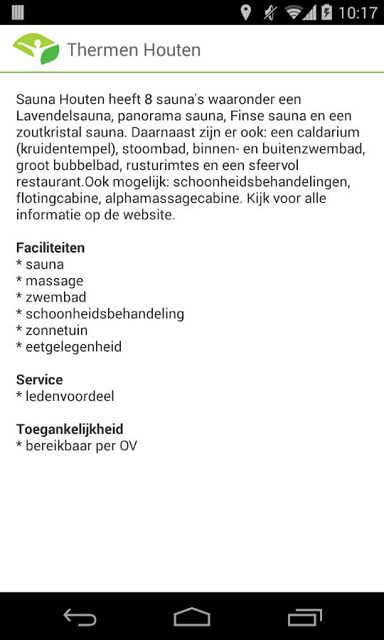 NFN voor naaktrecreatie aanbod - screenshot