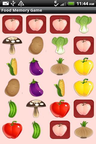 Food Memory Game for Kids - screenshot