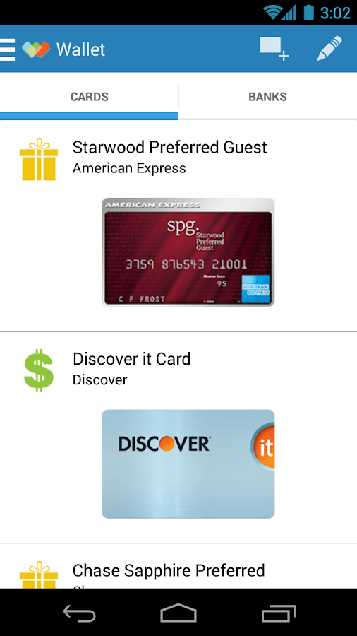 Wallaby® Credit Card Rewards - screenshot