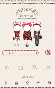 Shopper holic(Red check) Dodol screenshot 0