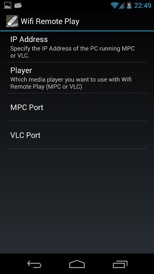 Wifi Remote Play - screenshot